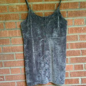 NWOT! Velvet corduroy button dress